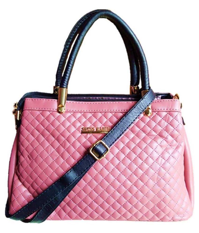 GORGEOUS YOU Pink P.U. Shoulder Bag
