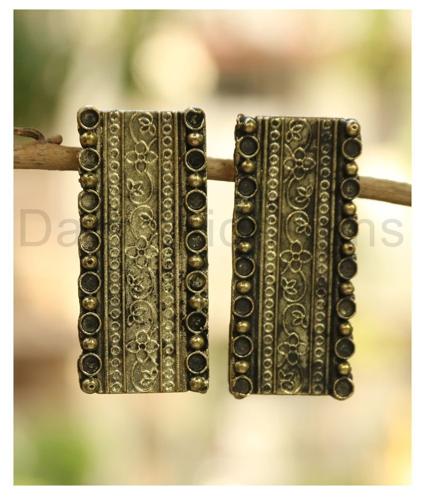 Darshini Designs Gold Plated  Long Earrings Women And Girls