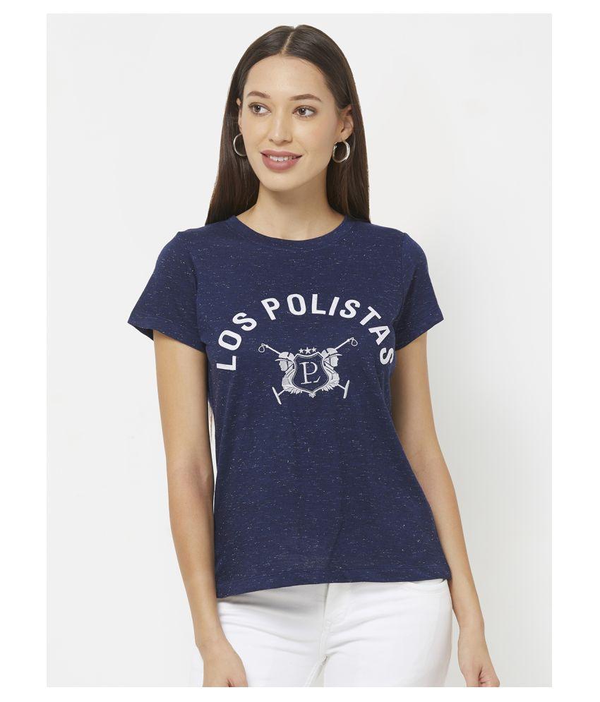 LOS POLISTAS Cotton Blue T-Shirts
