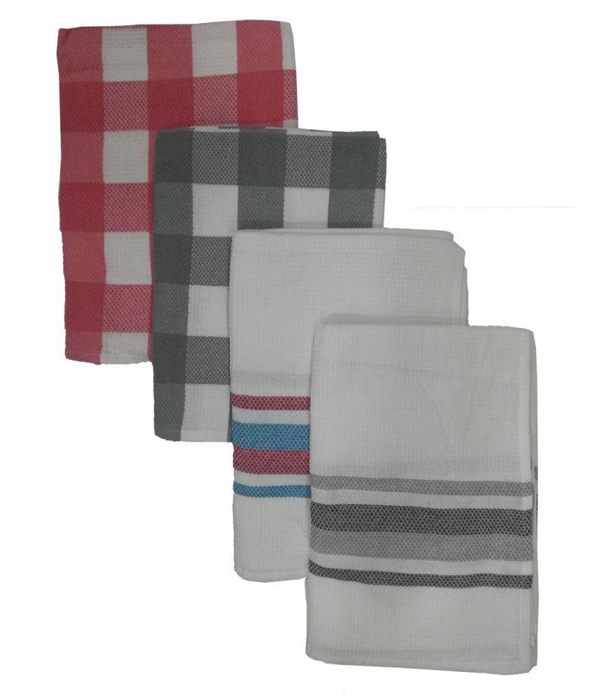 Athom Trendz Set of 4 Cotton Bath Towel Multi