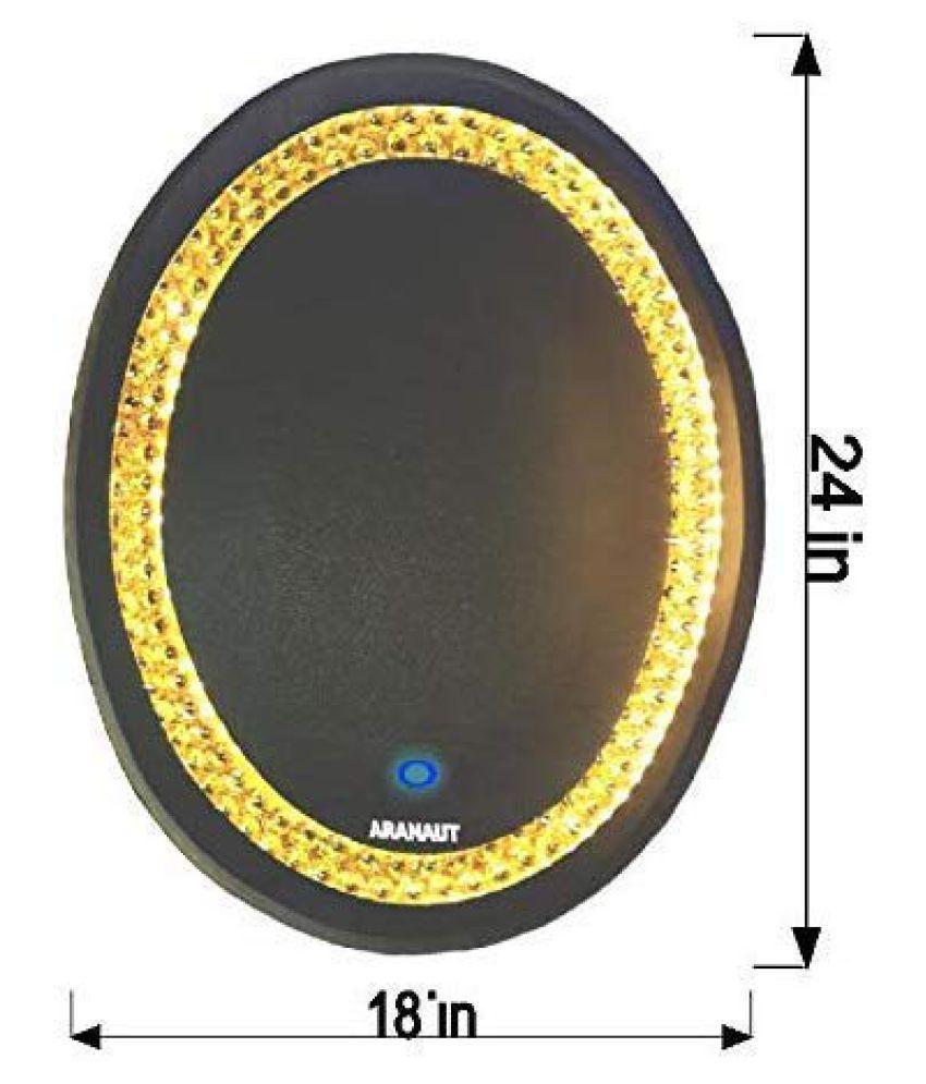 ARVIND SANITARY PVT LTD Mirror Wall Mirror ( 24 x 18 cms ) - Pack of 1