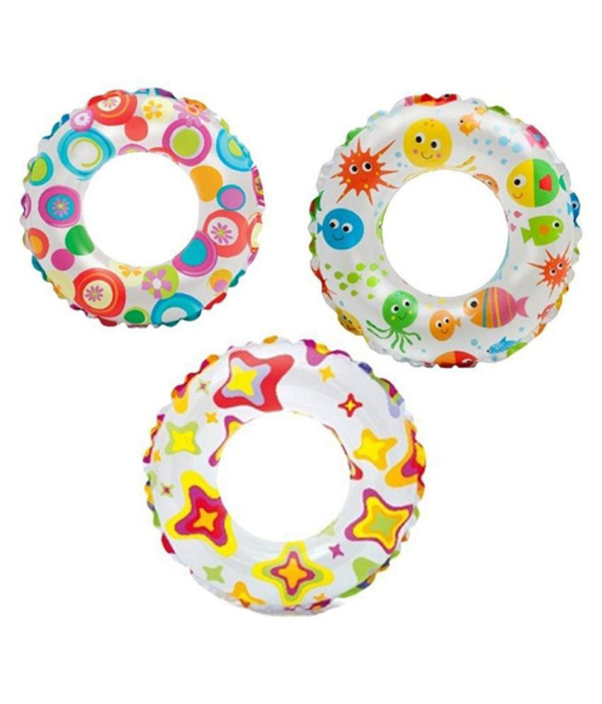 FASTDEAL   print 24 inch swim ring, multicolor