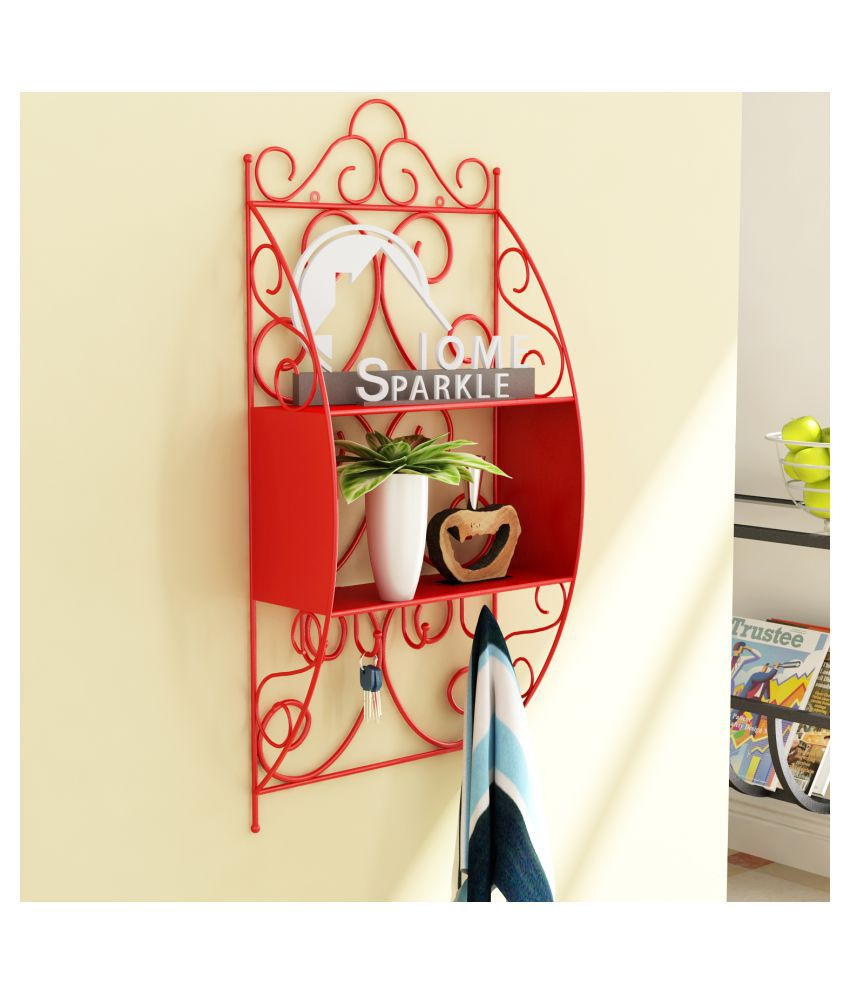 Home Sparkle Floating Shelves Red Iron - Pack of 1