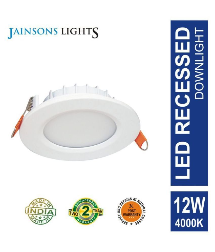 Jainsons Lights 12W Round Ceiling Light 15.3 cms. - Pack of 1