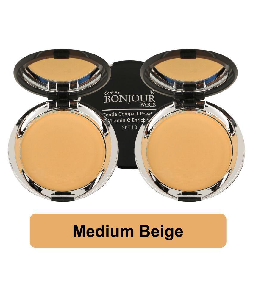 Bonjour Paris Pressed Powder Medium SPF 10 Pack of 2 18 g