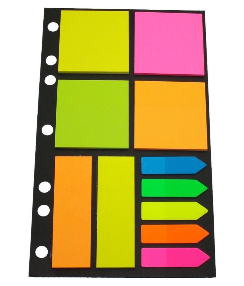 GoGrab Sticky Notes Assorted Shapes and Arrows 20 x 12 Cm