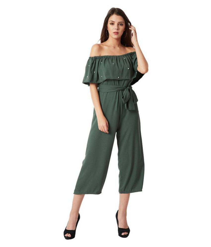 Miss Chase Green Crepe Jumpsuit