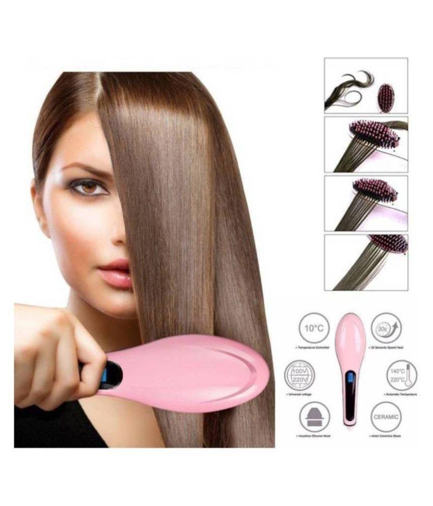 Nirvani HQT-906 Fast Hair Straightener ( Pink )