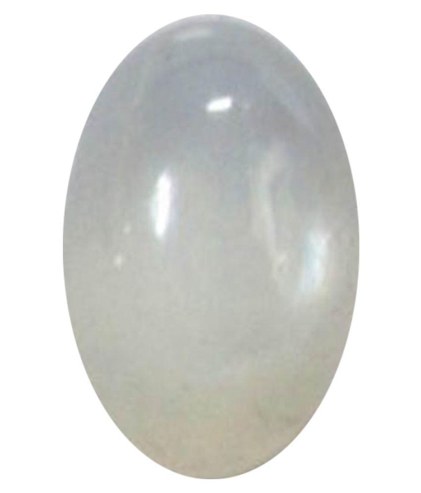 Tejvij And Sons 4.25 -Ratti Self certified Gray Moonstone Semi-precious Gemstone