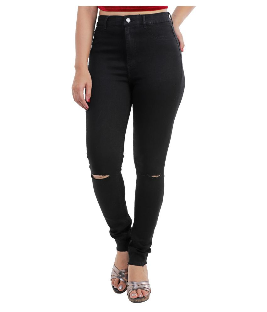 Malachi Denim Lycra Jeans - Black