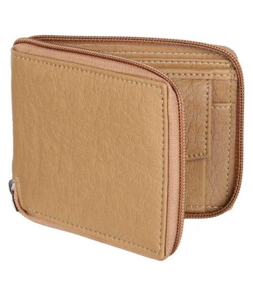 DARK ROMANCE Faux Leather Beige Casual Regular Wallet