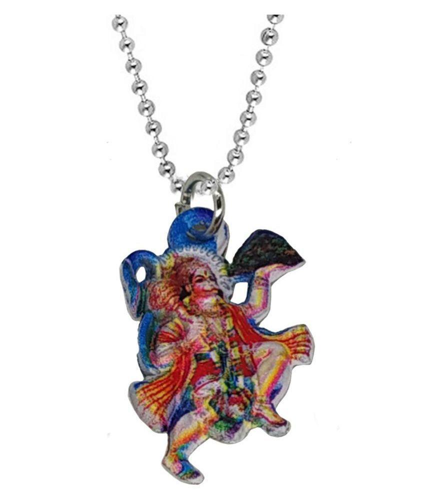 Shiv Jagdamba Religious Jewellry Lord Hanuman Multicolor  Metal Pendant Necklace