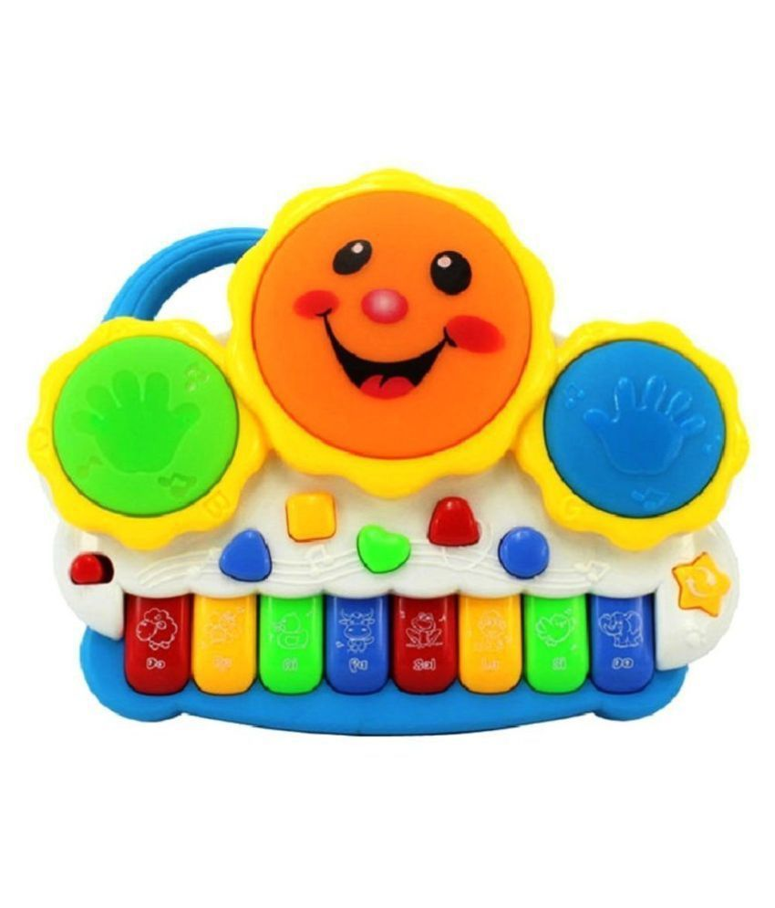 play pacific multi colored Drum Keyboard Musical Toys