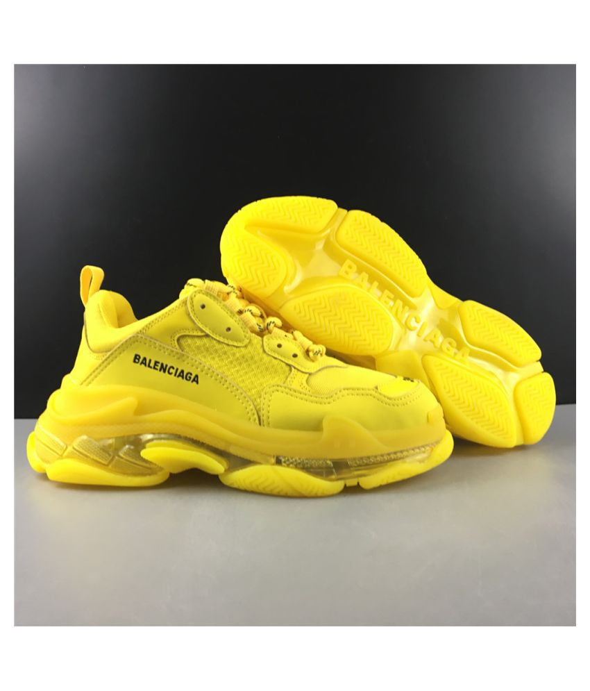 Balenciaga Yellow Running Shoes