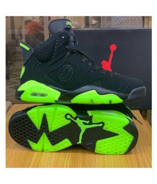 Nike JORDAN 6 BLACK NEON Multi Color