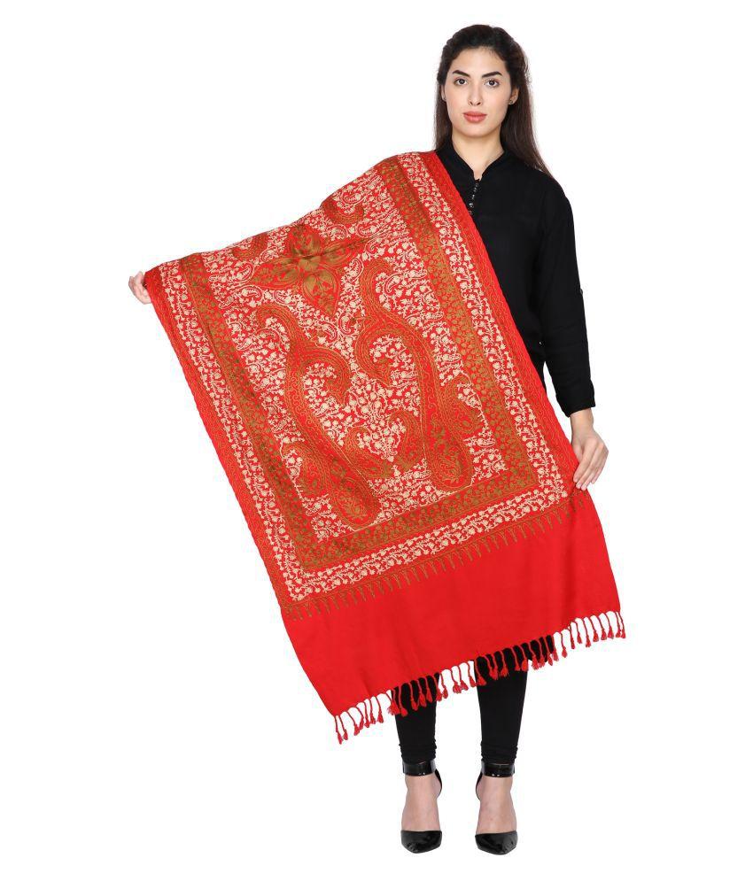 Shawl-e-Kashmir Red Kashmiri Shawl