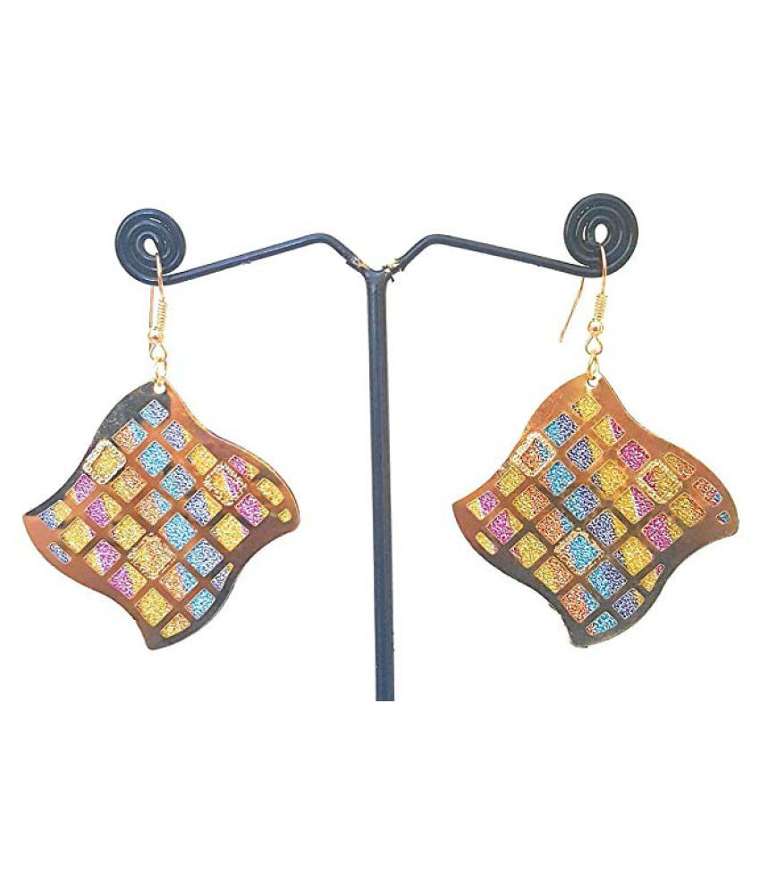 Shimmer Multicolored Copper Earrings