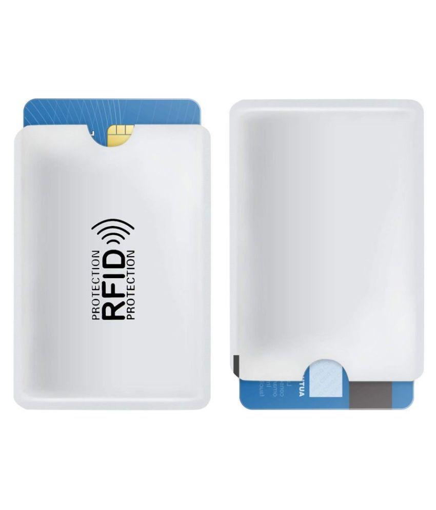 GMSP Aluminum Foil Business Credit Card Holder RFID Blocking Sleeve Protector Holder
