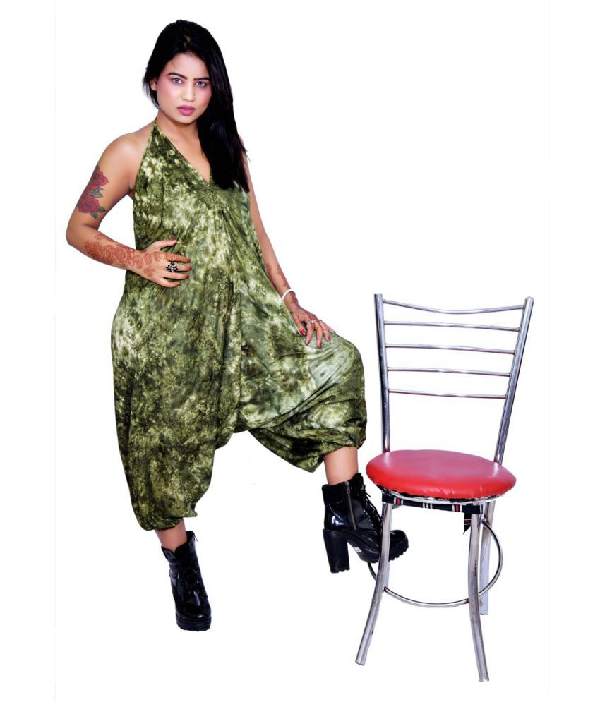 Balaji Garments Green Rayon Jumpsuit