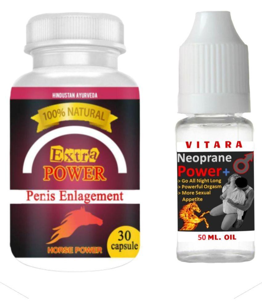 VITARA HEALTHCARE Male Power Capsule + FREE OIL Capsule 30 no.s Pack Of 1