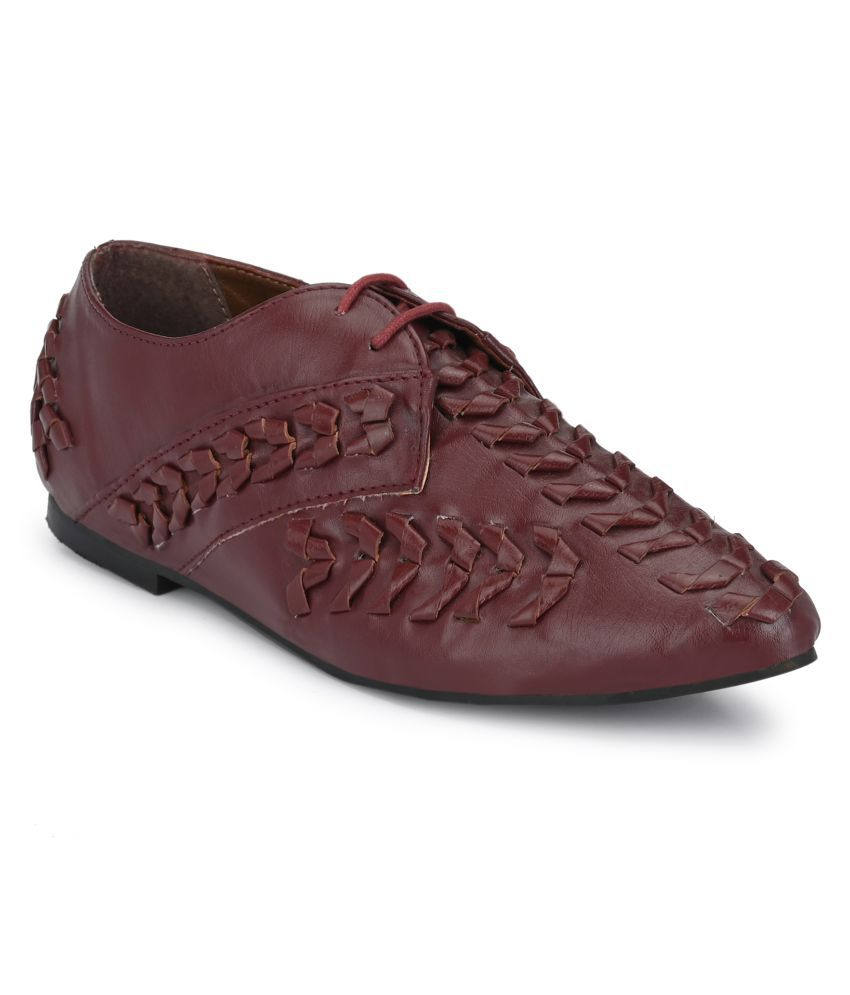 Zebba Maroon Casual Shoes
