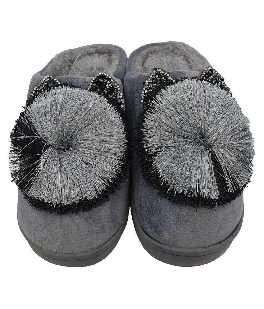 KAPANI Gray Slippers