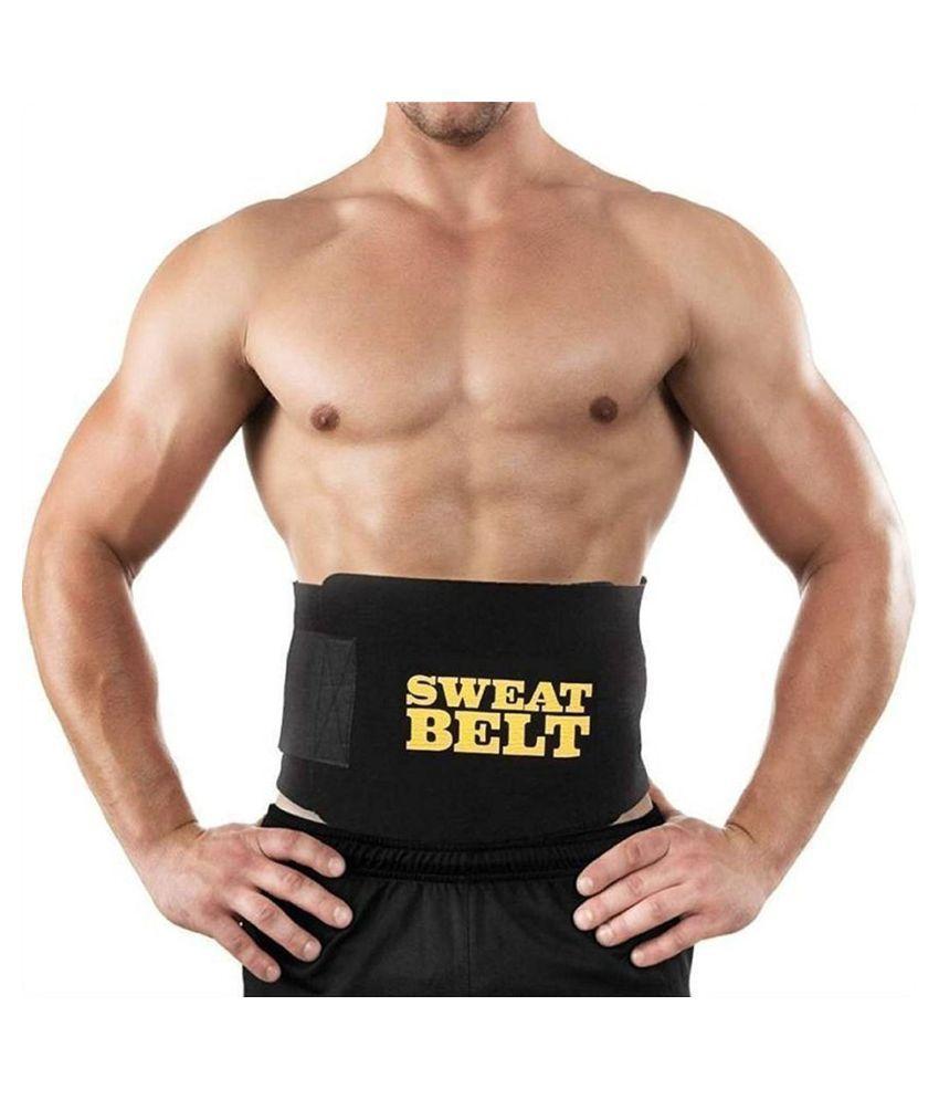 Blackwik Sweat Slim Tummy Body Shaper Weight Loss for Men & Women Adjustable Sauna Belt Adjustable Sauna Belt