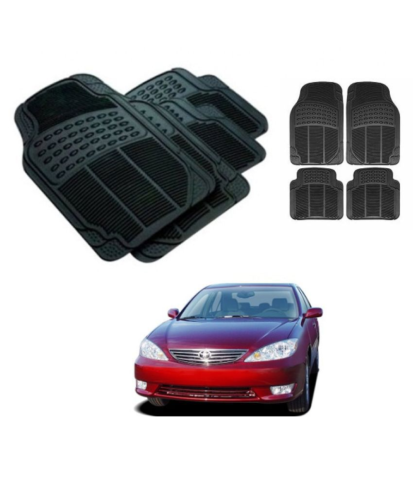 Neeb traders Car Rubber Foot  Mats for Toyota Camry 2005 (Set of 4, Black)