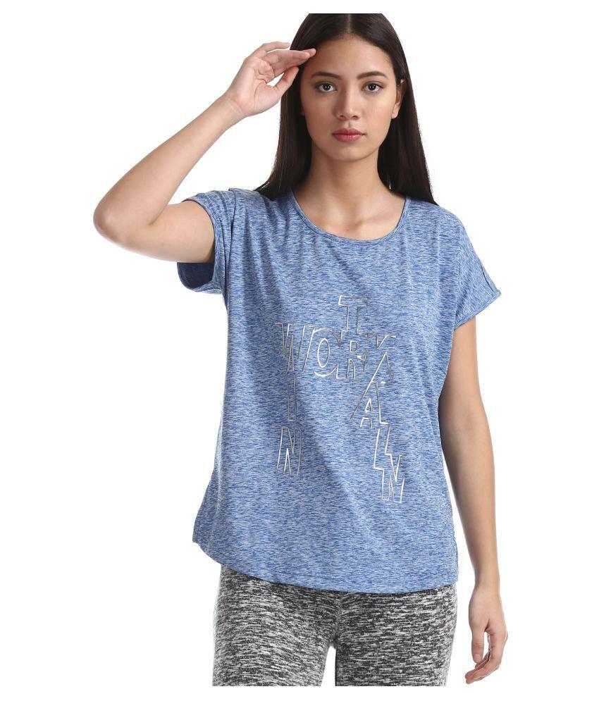 Sugr Polyester Regular Tops - Blue