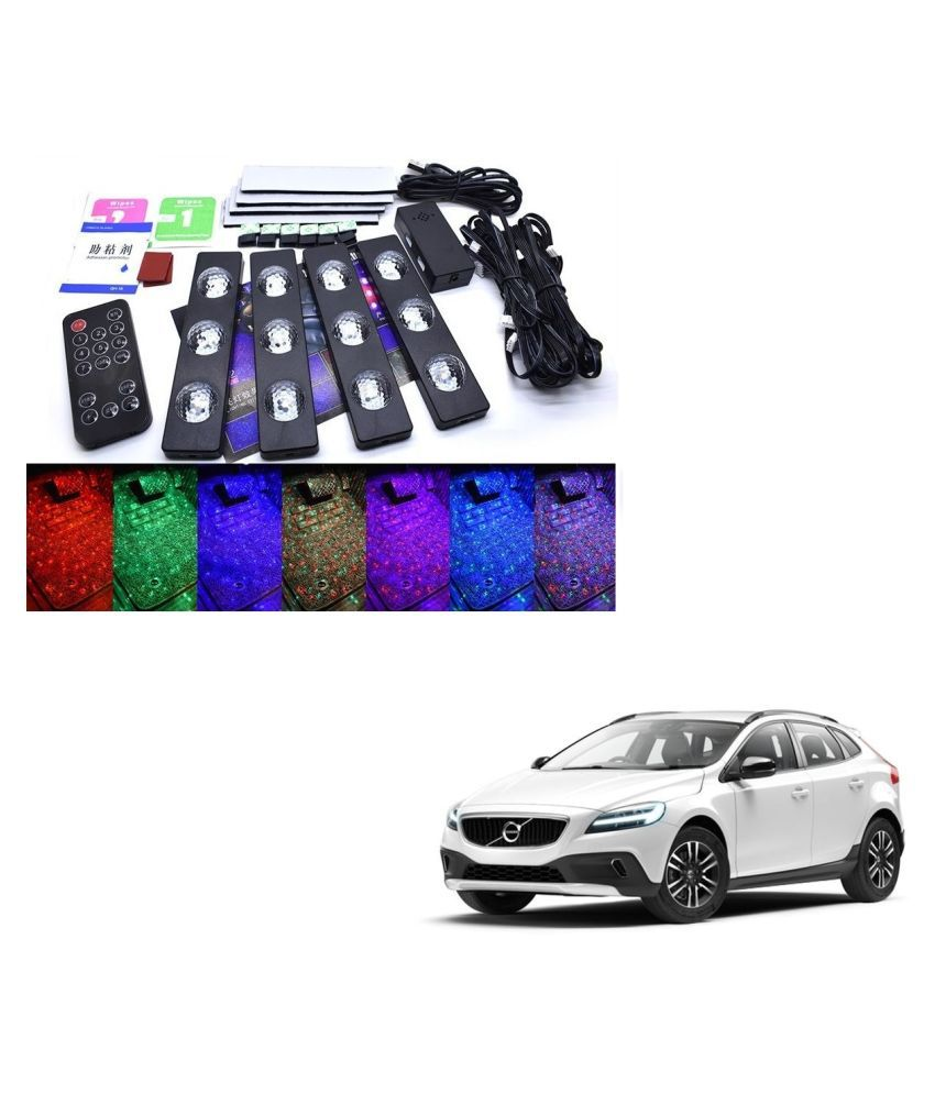 Auto Addict The Starlights Of Car Seat Bottom,7 Colors Lights,Breathing,Voice Ctrl,Create a Different Landscape in The Car For Volvo V40