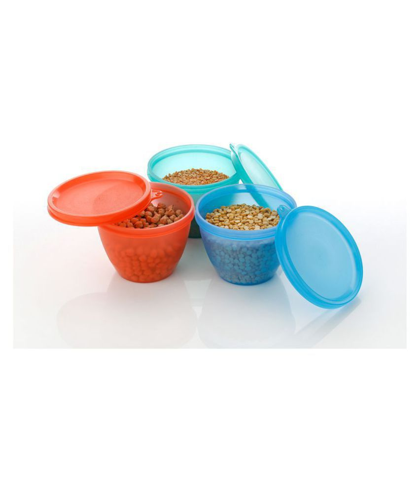 Kkart Delta Polyproplene Food Container Set of 3 500 mL