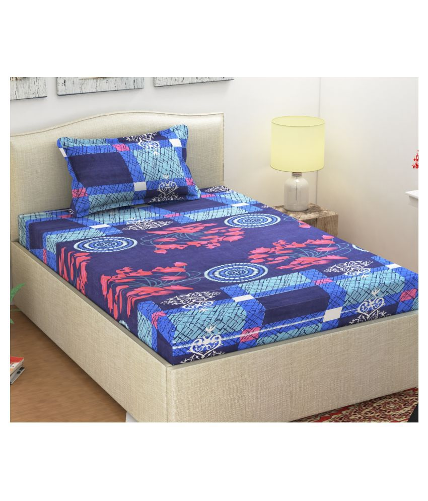 Shipna Microfibre Single Bedsheet with 1 Pillow Cover