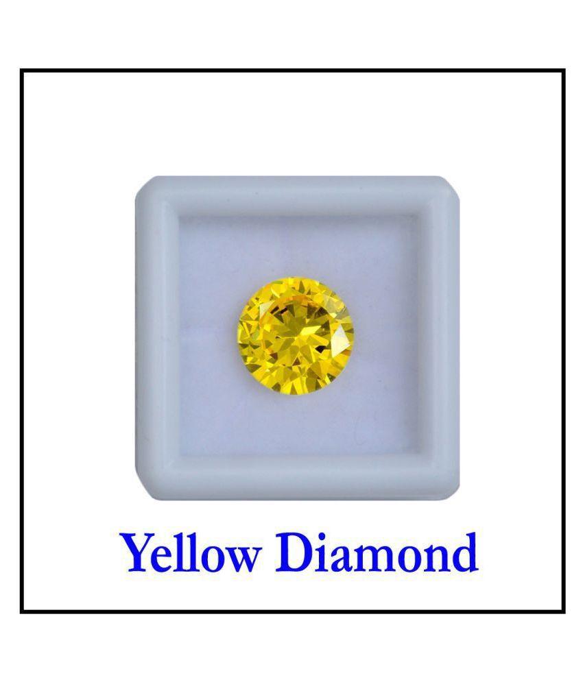 Maya Gems/6.25 Carat Crystal Yellow American Diamond