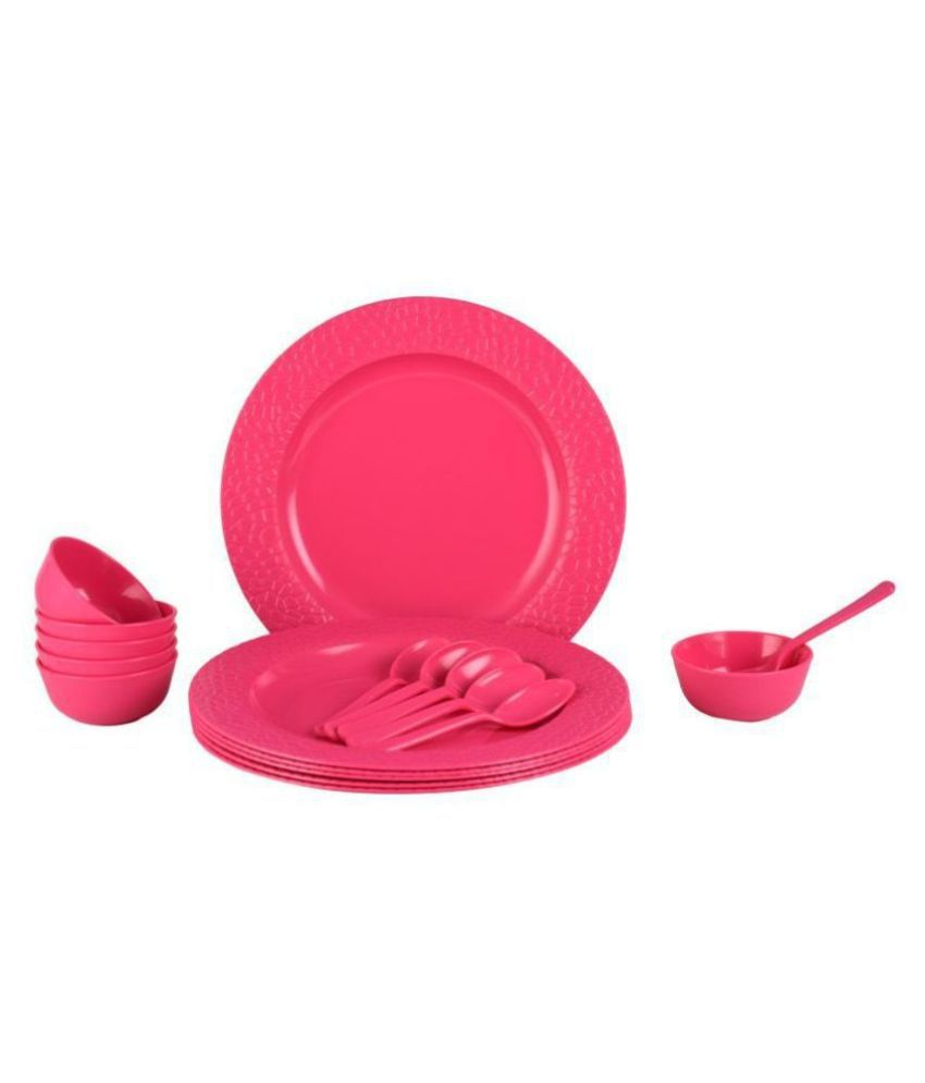 Homray Stone Plastic Dinner Set of 18 Pieces