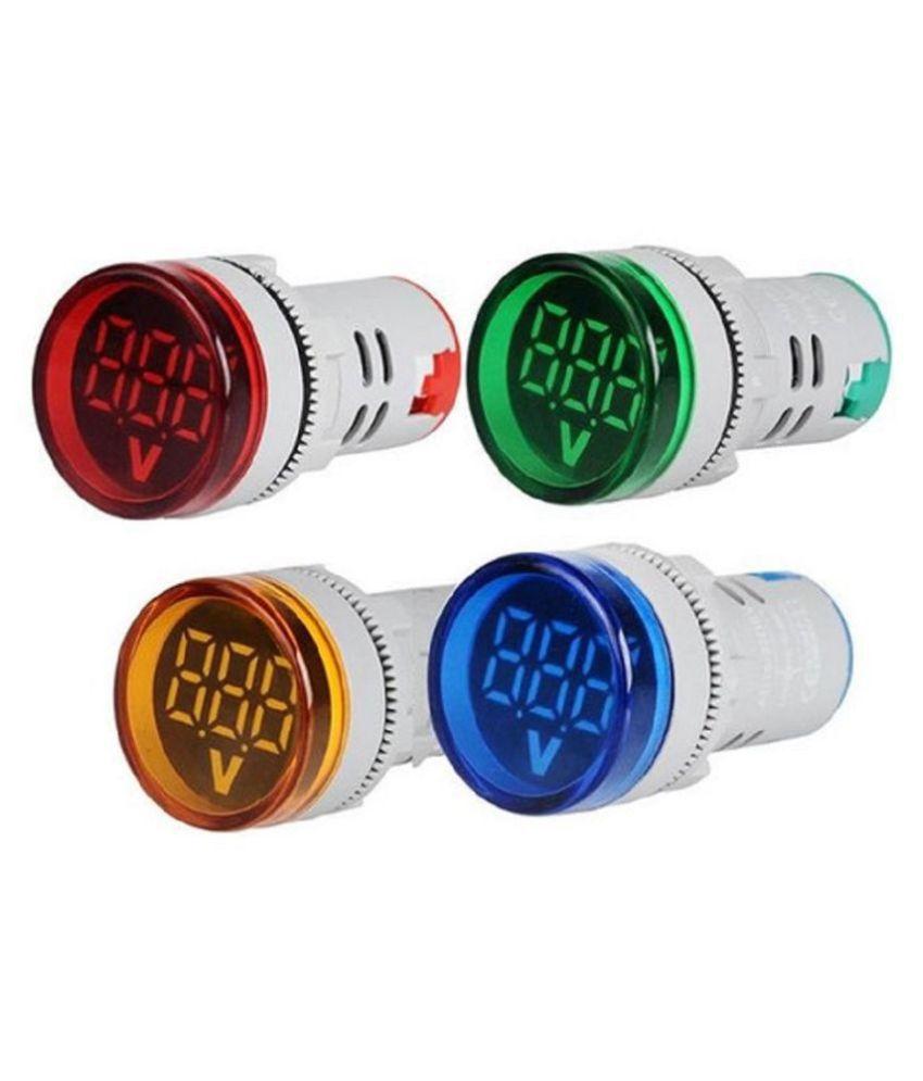 Voltmeter Indicator Lamp Tester Measuring Range AC 60-500V Plastic LED Voltmeter (RYBG)