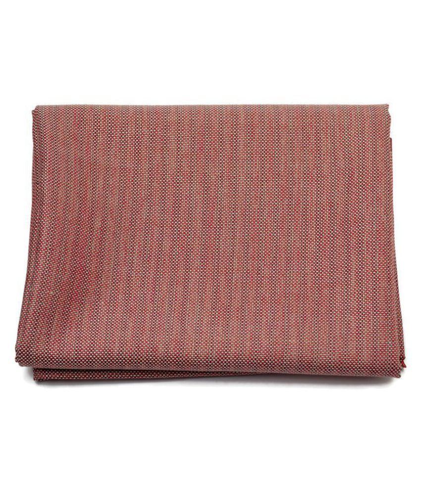 M Maharaja Red Cotton Blend Unstitched Blazer Piece