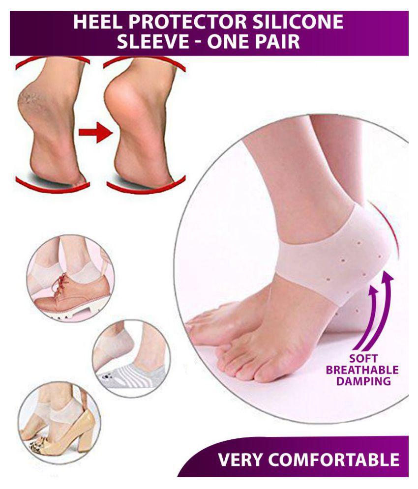 Hanuman Impex Silicone Heel Protector Crack Heel Protector Silicone Socks 1 Pair
