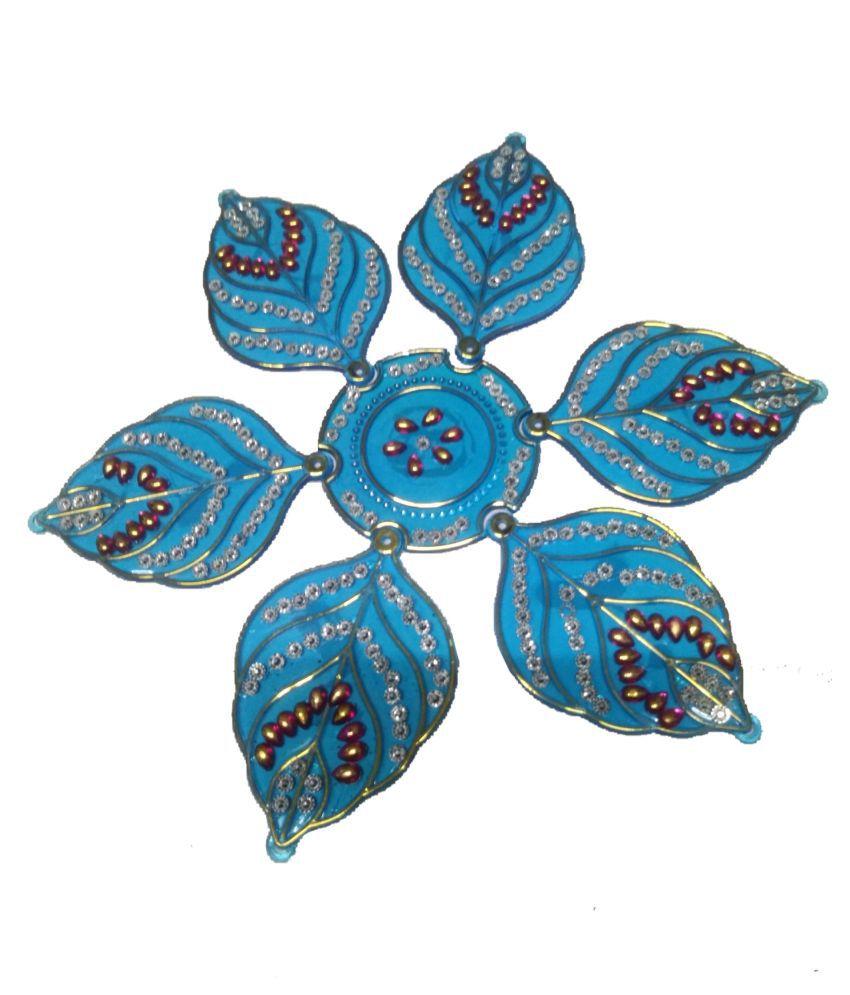 joya ceation Multicolour Acrylic Rangoli - Pack of 1
