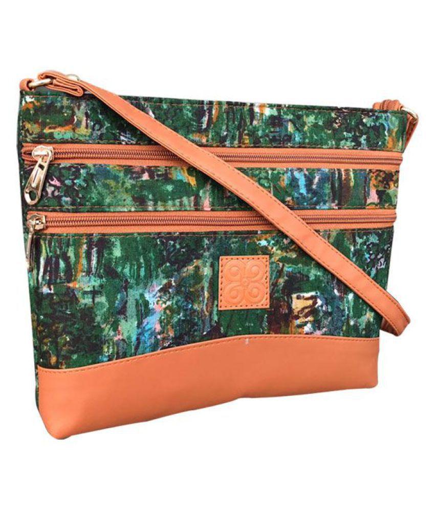 Craferia Export Green Cotton Sling Bag