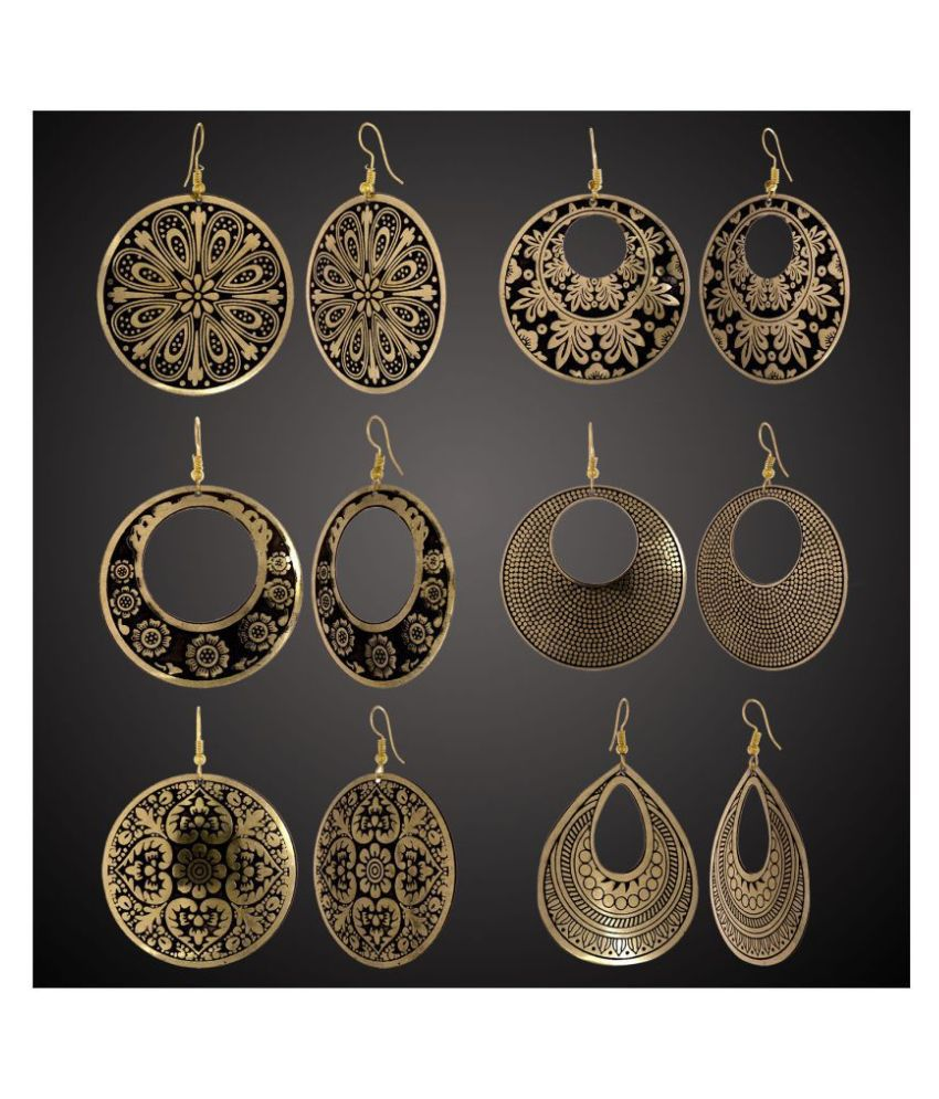 Alysa Combo of 6 pair Stylish and Light Weight Earrings