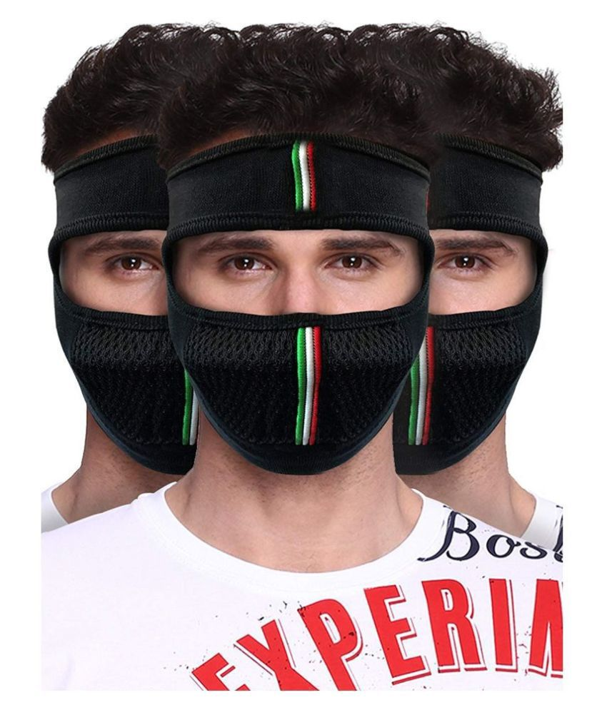 Protection Multipurpose Half and Full Dual Face Cover, For Bike Riding And Winter Season, Breathable Cotton And Nylon Ski Cover Balaclava, Windproof Bike Face Mask For Bikers And Riders,(Any Colour),Free Size, By Ossden Automobiles