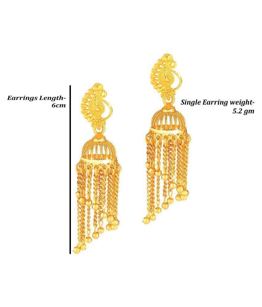Darshini Designs Traditional One Gram Gold Plated Jhhumki Earrings