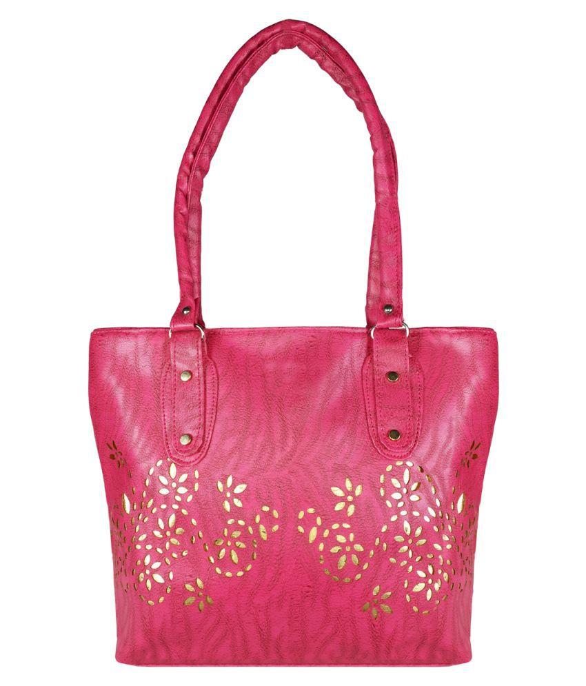 Evermore Pink P.U. Shoulder Bag
