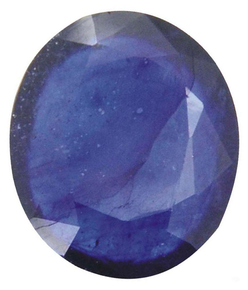 Tejvij And Sons 4.25 -Ratti Self certified Blue Sapphire Semi-precious Gemstone