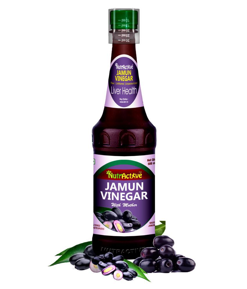 NutrActive Jamun Cider Vinegar with Mother 500 ml Natural Single Pack