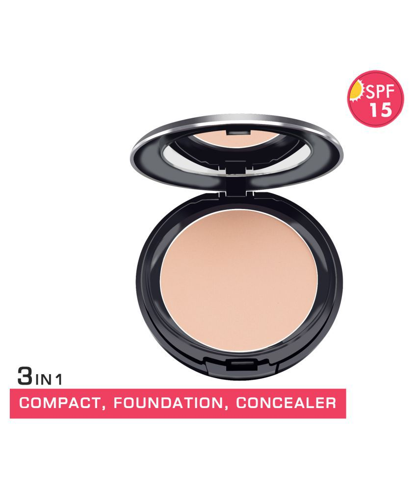 GlamGals 3 in1 Compact+Foundation+Concealer Retouching Powder Medium SPF 15 14 g