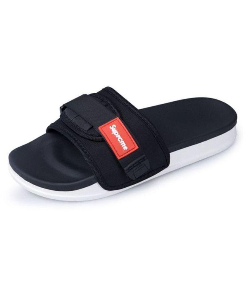 SUPREME SLIPPER Black Slide Flip flop