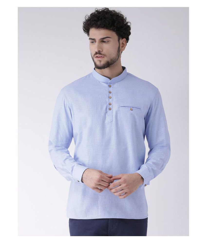 Tabard Blue Cotton Kurta Single