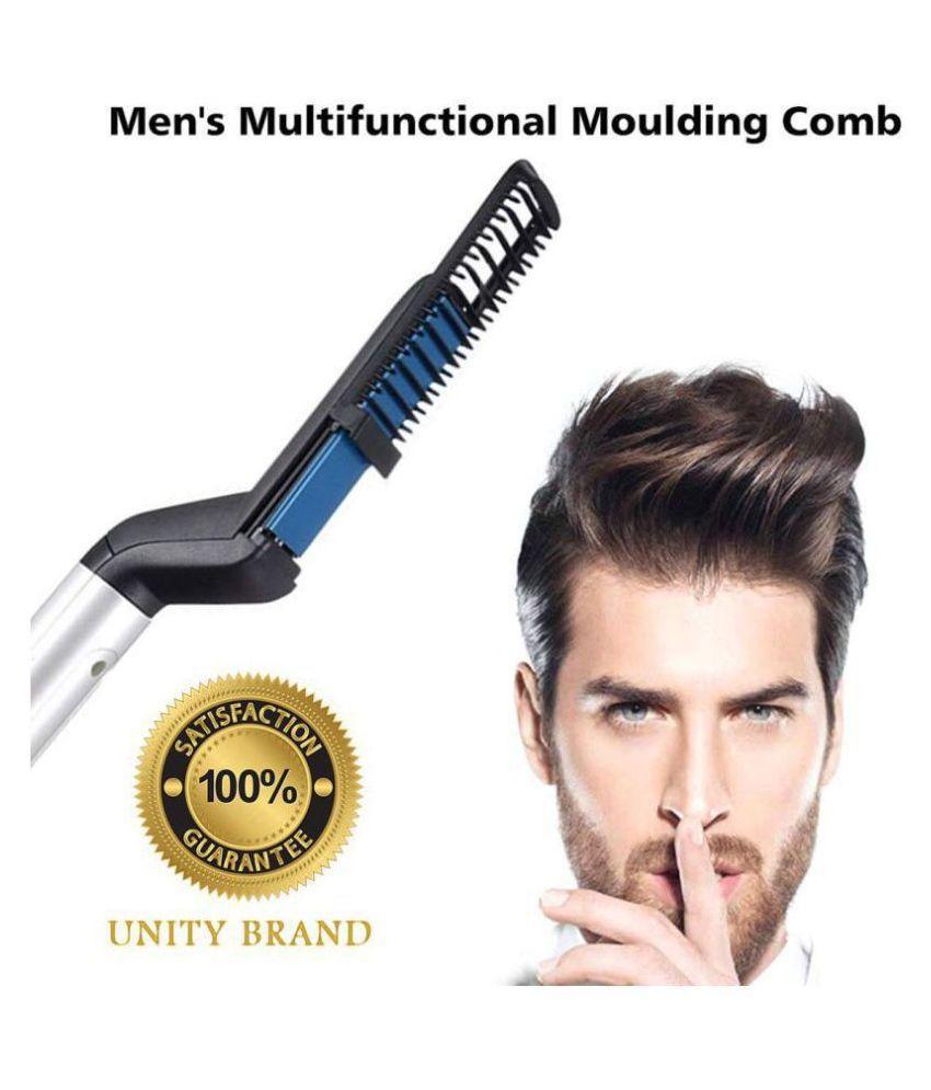 Nilkanth Enterprise modelling comb mens Hair Straightener ( black )