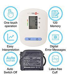 BPL Medical Technologies BPL 120/80 B3+ Automatic Blood Pressure Monitor (White)